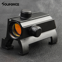 Tactical 1X25 Claw Red Dot Sight Optical Rifle Scope Arma Sight Caza Alcances para MP5 G3 Accesorios