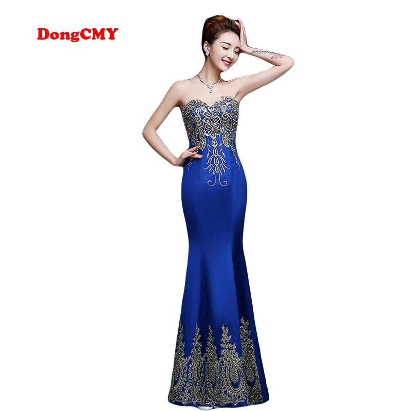 DongCMY 2019 formal long design sweatheart vestidos plus size elegant muslim evening dress