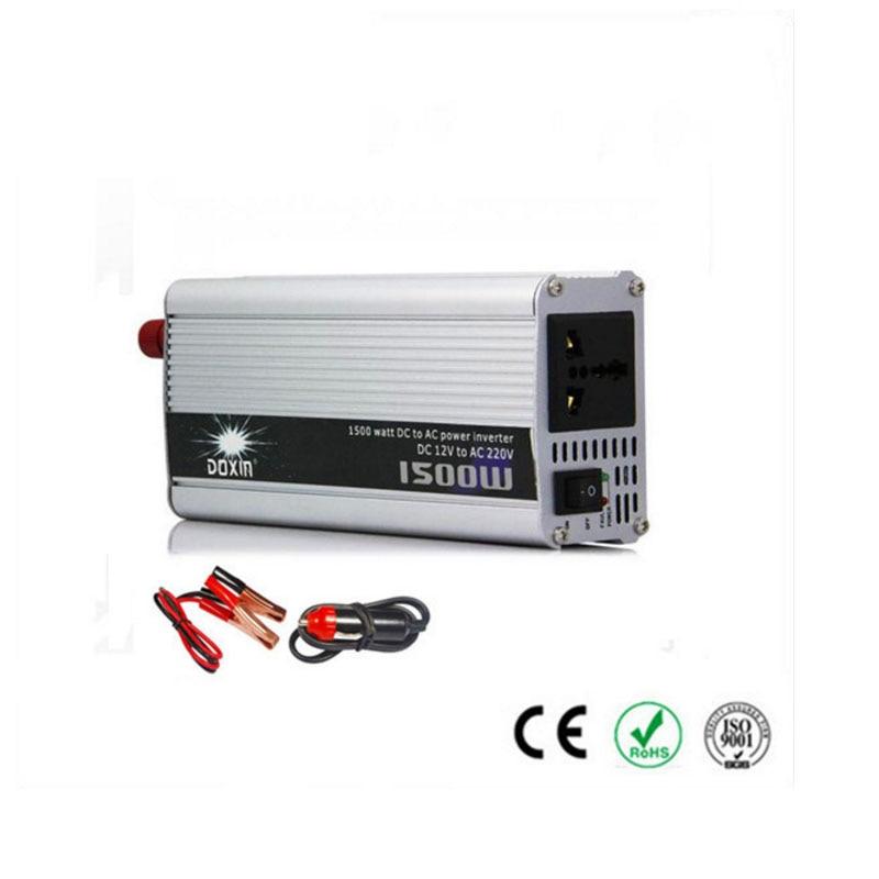 1500 W voiture onduleur convertir DC 12 V à AC 220 V modifié sinus véhicule alimentation chargeur convertisseur adaptateur