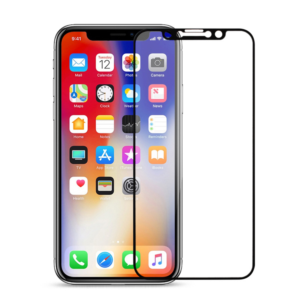 2.5D 9H Screen Tempered Glass For iPhone X XR XS Max Full