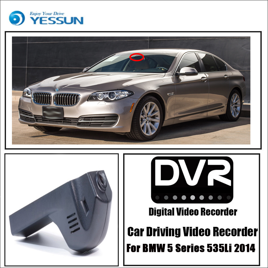 YESSUN pro BMW 5 535Li 2014 Dvr Mini kamera WIFI Novatek 96658 Full HD 1080P Řidič rekordér Auto Dash Cam Videorekordér