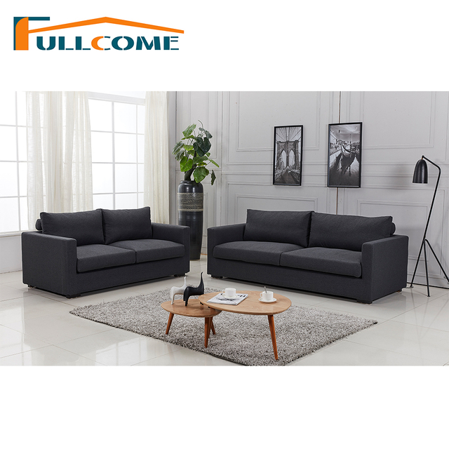 China Home Furniture Modern Leather Scandinavian Sofa Love Seat Chair  Living Room Furniture Set Down Divano