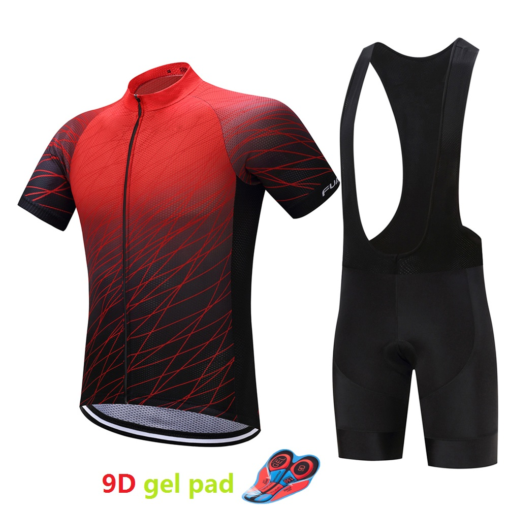 Breathable cycling jersey set men's 9D gel pad bicycle clothing maillot mtb 2018 mountain bike clothes outdoor kit sport wear 44pcs set mountain bike patchs maintenance repair box diagnostic tools kit valuables cycling chain case bicycle accessories