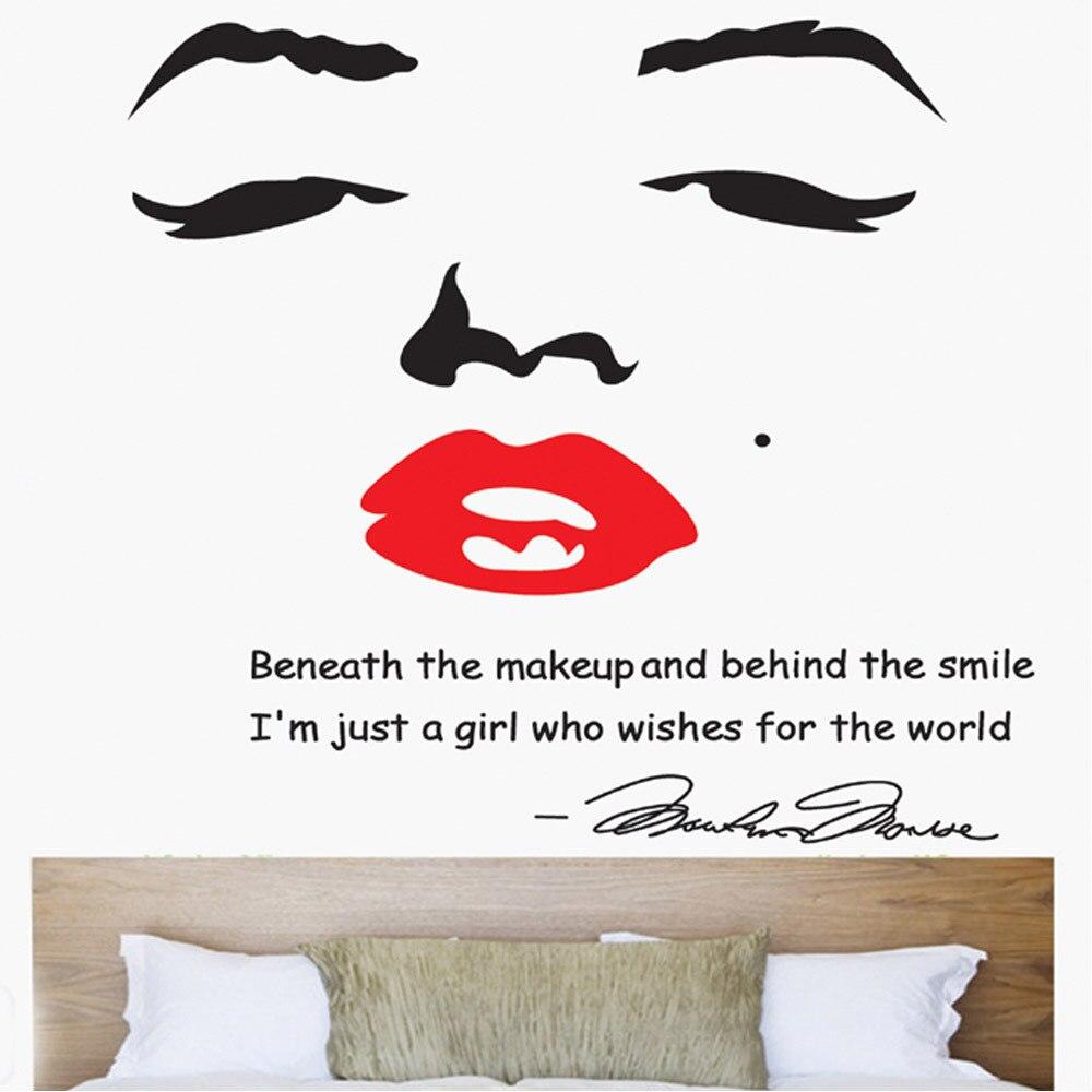... Free Shipping/1pcs Home Decoration Portrait Of Marilyn Monroe DIY Wall  Sticke Wallpaper Stickers Art ...