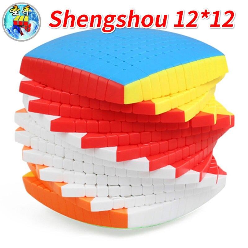 ShengShou 12x12x12 Cube Sengso Cube magique concours professionnel 12x12 vitesse Cube Cubo Magico Twisty Puzzle jouets éducatifs