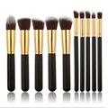 10 unids Conjunto Profesional Pincel de Maquillaje Maquiagem Fundación Belleza Sombra de Ojos Polvos Cosméticos Componen Cepillos mejor vendedor