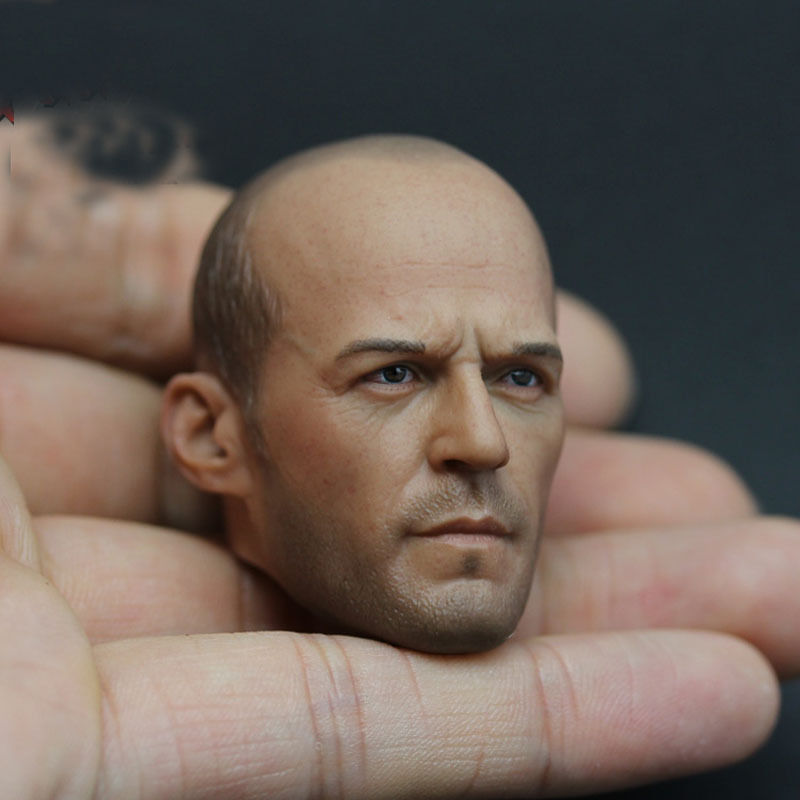 1/6 Scale Jason Statham  Fast and Furious 8 Death Squads Male Head sculpt for 12 Action figure Soldier Doll Toys jason and medea