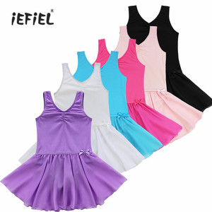 Girls Princess Ballerina Ballet Dress Party Costumes Children Gymnastics Ballet Leotard Tutu Dance Dress Kids Dancewear Clothing(China)