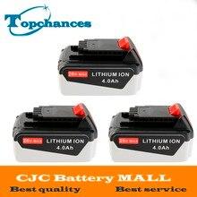 3PCS High Quality 20V 4000mAh Li ion Power Tool Replacement Battery for BLACK DECKER LB20 LBX20