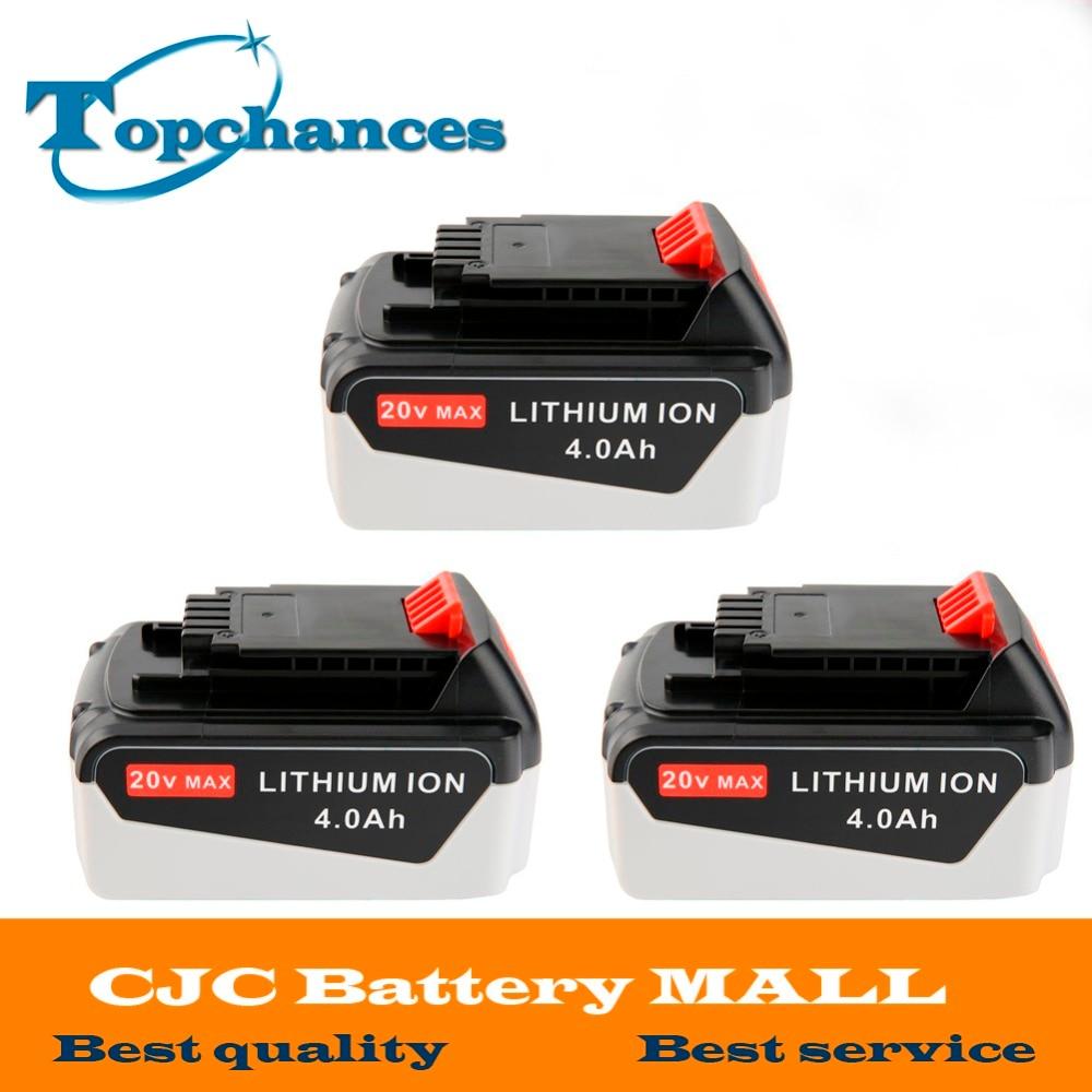 3PCS High Quality 20V 4000mAh Li ion font b Power b font font b Tool b