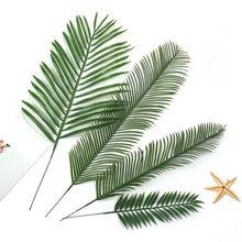 20 шт. искусственные листья монстеры в форме листьев зеленые растения Свадебные украшения DIY цветы композиция растительный лист