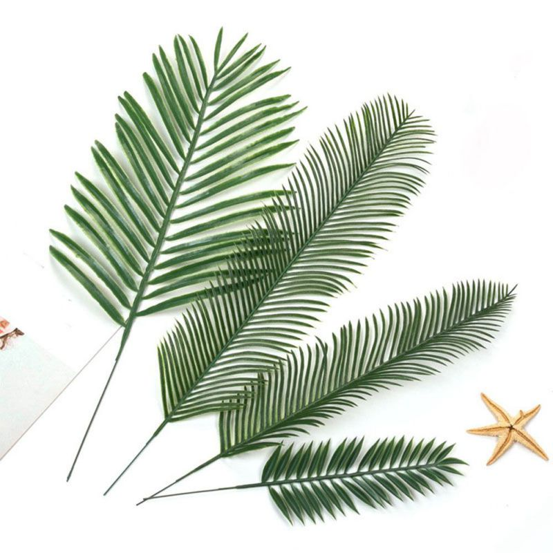 20pcs Artificial Fake Monstera Palm Leaves Leaf-shaped Green Plants Wedding DIY Decoration Flowers Arrangement Plant Leaf