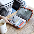 Multifunctional Travel Accessories Passport Wallets Bags Waterproof Travel Money Purse Ticket ID Handbag Card Storage Zipper Bag