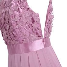 TiaoBug Long Lace Designer Bridesmaid Dresses