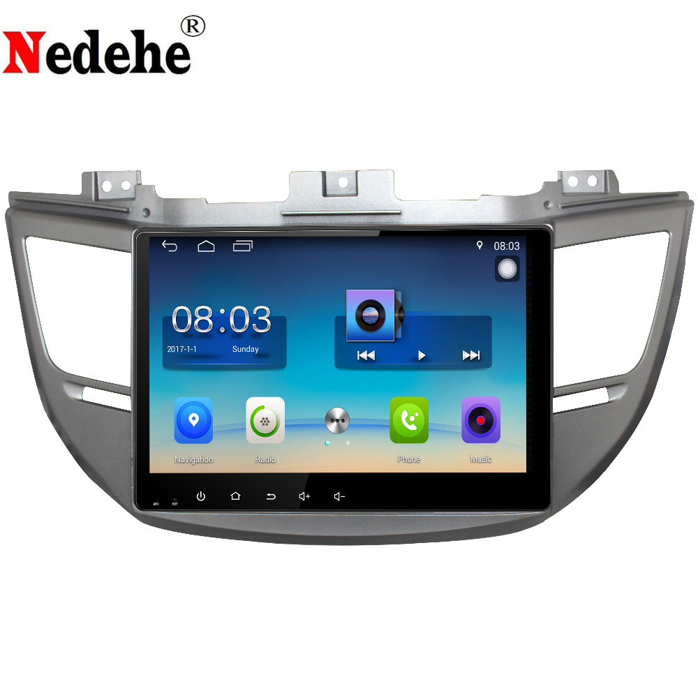 Nedehe 10.1 inch Android 8.0 Car DVD GPS Navigation For HYUNDAI IX35 / Tucson 2015 2016 car radio audio video player