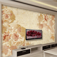 Beibehang Custom Photo Wallpaper 3d Large Mural European Style Scroll Curved Living Room TV Sofa Background