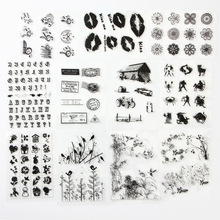 Block Frame Flowers Stick Figure Series TPR Clear Stamp Transarent Stamp For DIY Scrapbooking/Card Ming/Decoration Supplies