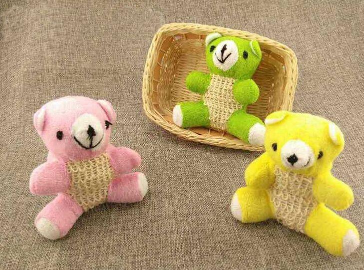 1pcs Little Bear Doll Bath Ball Shower Bath Gloves