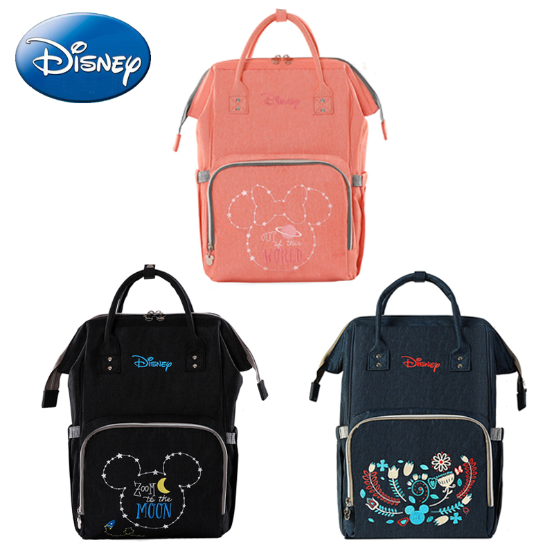 Disney Diaper Bag Travel Backpack Mummy Maternity Bags Nappy Bag Waterproof Large Capacity Stroller Straps for Baby Care Fashion