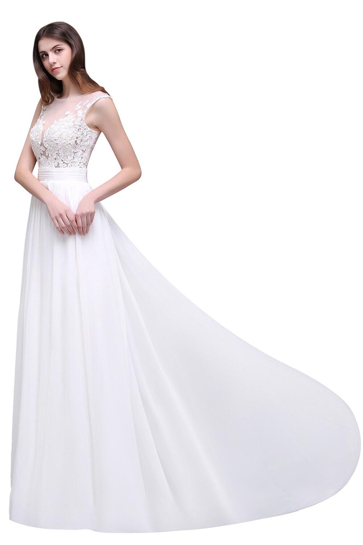 Romantic Summer Boho Lace Beach Wedding Dresses 2017 Sheer Neck ...