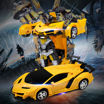 2 in 1 Bumblebee RC Car Transformer 118 radio-controlled cars Driving Sports Cars & Robots Model Remote control Carro Toy Gift radio-controlled car
