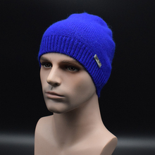 Высокое качество Сплошной цвет мужская Шерсть шляпа Зима Теплая Вязаная шляпа Мужчины Вязать Шапочки Skullies Bonnet Шляпы мужская Зимняя Шапка Caps