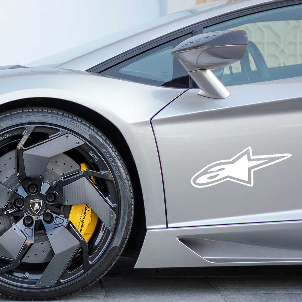 アルパインスター車のステッカーオートバイ車の装飾パーソナライズ車体窓ウォールステッカーファッションアクセサリーステッカー18*7.6センチ