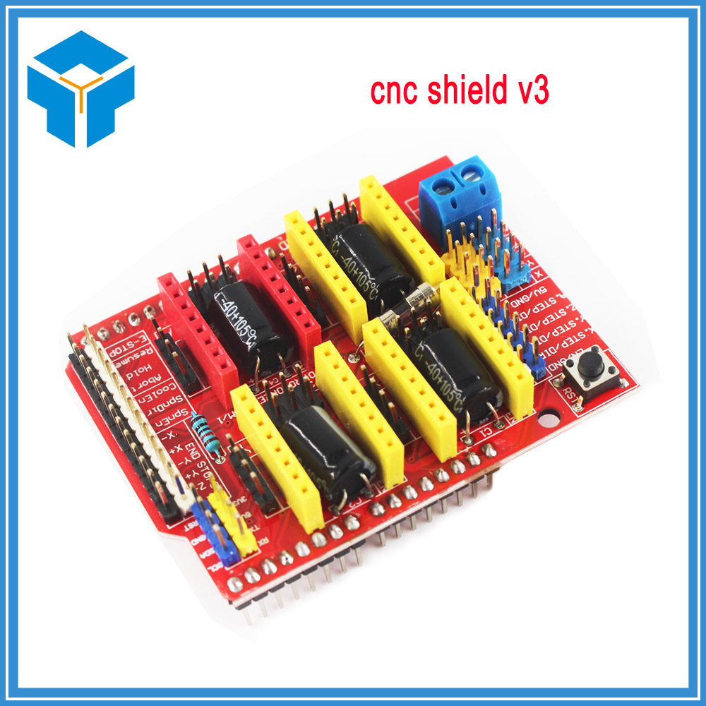 10Pcs/Lot CNC Shield V3 3D Printer Parts Reprap Shield V3 Engraving Machine A4988/DRV882 ...