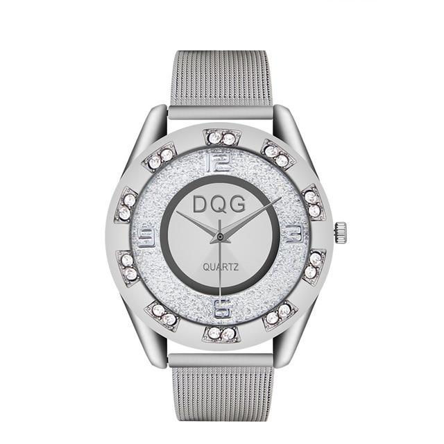 Reloj Mujer Ny Lyx Märke Mode Silver Mesh Bälte Klockor Klockor - Damklockor - Foto 5