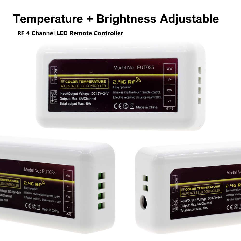 Mi пульт дистанционного управления освещением цветовая температура регулируемая и Яркость Диммер DC12-24V для светодиодной ленты.