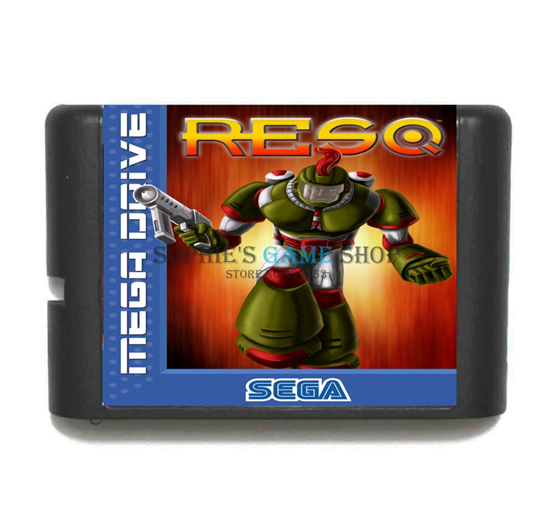 RESQ Game Cartridge Newest 16 bit Game Card For Sega Mega Drive / Genesis System