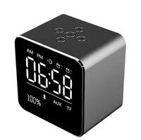 V09 Desktop Bluetooth Speaker Draagbare Draadloze met Wekker Microfoon BT3.0 Ondersteuning Micro Sd-kaart voor Telefoon