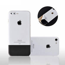 White Skin Sticker Phone Cover For iPhone 6 6S 7 8 Plus X