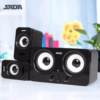 SADA Wired D 220 Laptop Speaker Stereo Bass Surround Subwoofer Portable USB Loudspeaker Volume Control For