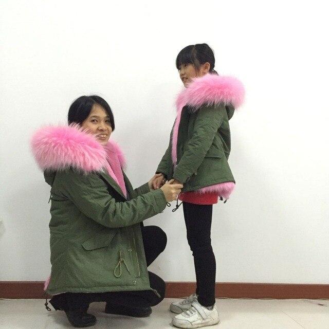 1b1bd178e Mutter und tochter tragen Snug rosa fell jacke
