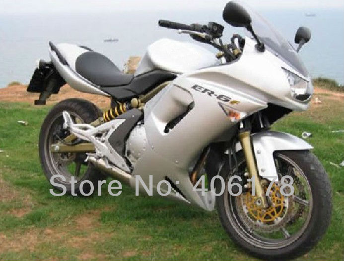 Hot Sales,moto fairing 06 07 08 For Kawasaki ER-6F 2006-2008 Full Silver Ninja 650 Motorcycle Sports ABS BodyKits Fairings