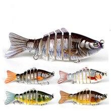 Fishing Bait 10 Cm 15.5 G 3D Eyes 7 Paragraphs Multi-section Fish Bionic Life Like Hard Temptation 2 Hook