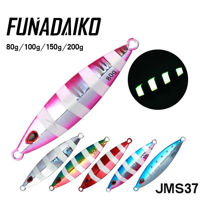 FUNADAIKO Isca Artificial Lead Jig Metal Jig Jigging Lure Fishing Jig Fishing Jig Lure Slow Jig 60g 80g 100g 150g