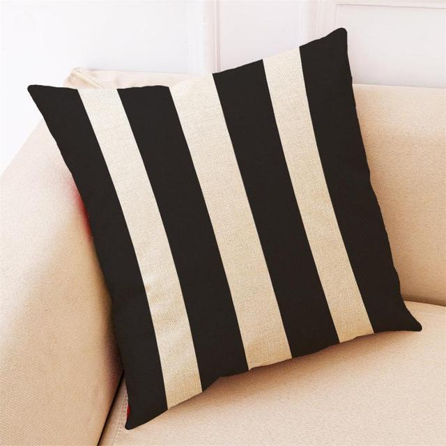 Cassa del cuscino Modello in Bianco E Nero Misto Lino Copertura del Cuscino Geom