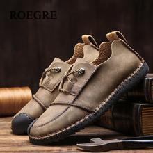 Купить с кэшбэком 2018 new comfortable casual men shoes high quality handmade leather shoes men flat shoes hot soft bottom office shoes size 36-46