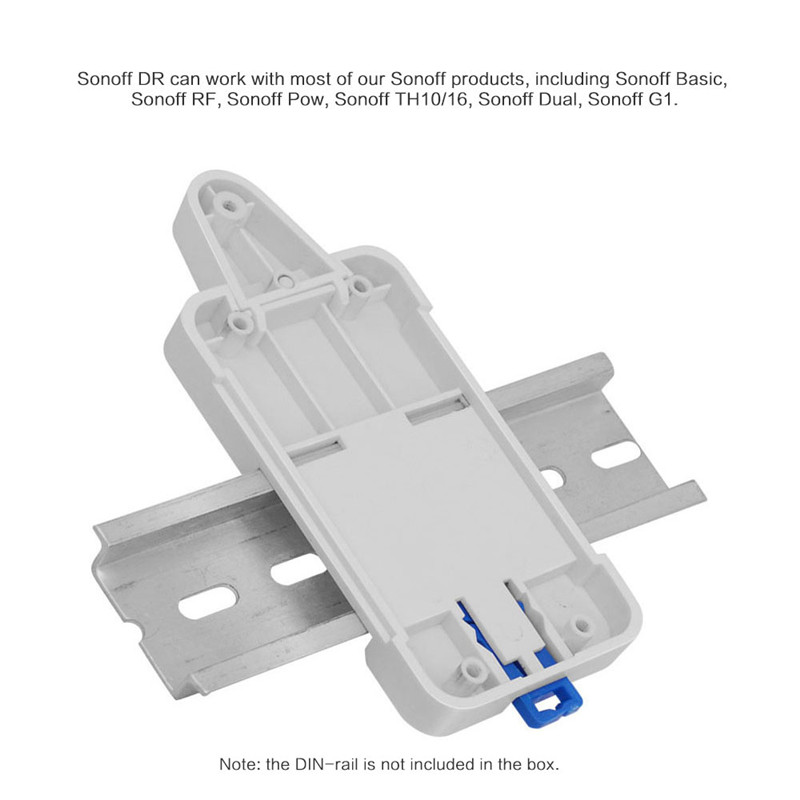 Smart Home Sonoff DR DIN Rail Tray Adjustable Mounted Rail Case Holder Solution for Sonoff Switch(Basic/TH10/16/Pow/Dual/G1)