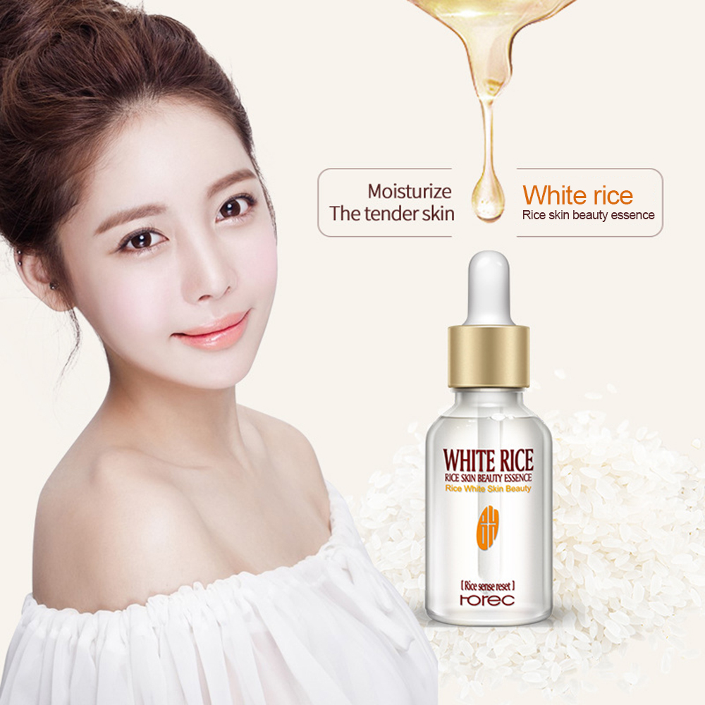 Pure White Rice Serum Essence Moisturizing Anti Wrinkle Anti-allergy Face Intensive Face Lifting Deep Firming Nourishing TSLM2