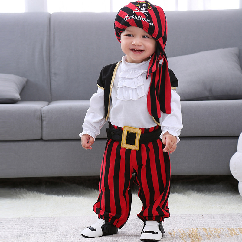 baby boys romper halloween costume infant jumpsuit newborn autumn winter long sleeve rompers hats 2018 new