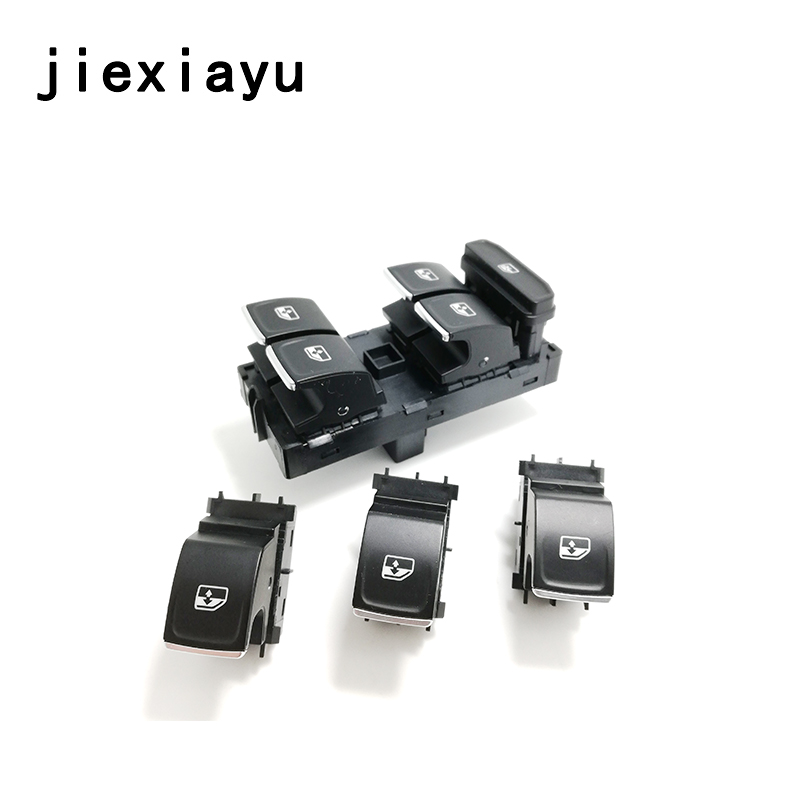 4PCS Chrome Driver and Passenger Window Control Switch button For Golf 7 Gti R MKVII MK7 5G0 959 857 C 5GG 959 857 A 5G0 959 855