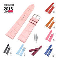 Slub pattern True Leather watch strap 12 14 16 18 20 22mm 2020 new watchband 20mm watchbands straps18 relogio masculino J022-12