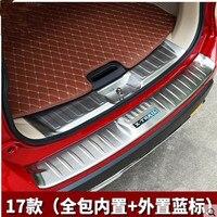 Estilo de coche Rogue parachoques trasero de acero inoxidable protector de alféizar cobertor de protección de maletero Trim para 2017 2018 Nissan x-trail T32