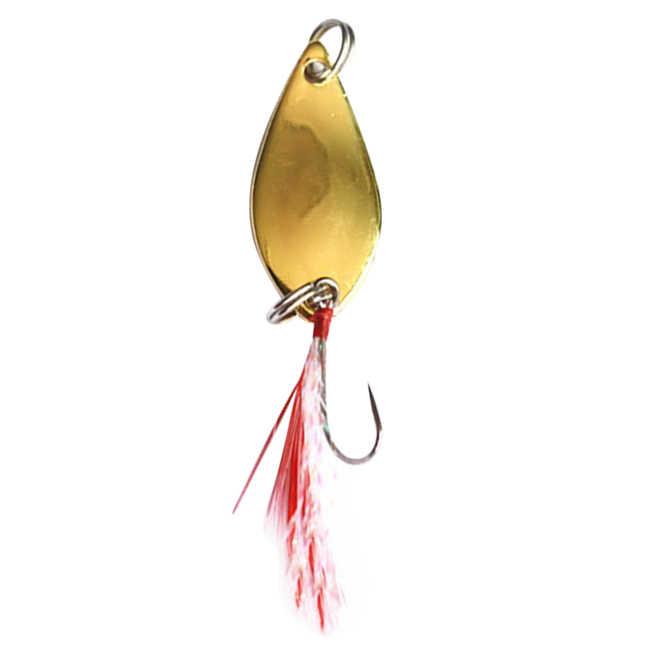 SEWS-Long coup de pêche leurre Shine Metal Peche volant dur leurre avec plume Wobbler carpe matériel de pêche Spinner équipement appât 2.5g