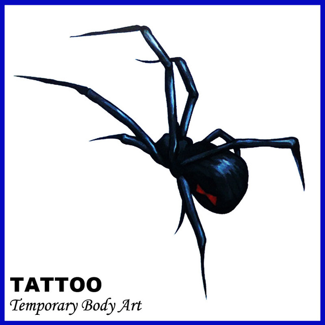 d7d32a2f1 Sexy Temporary Tattoo Stickers Temporary Body Art Supermodel Stencil  Designs Waterproof Evil spider Tattoo Pattern Hot sales