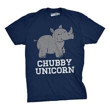Mens Chubby Unicorn Tshirt Funny Cute Adorable Rhino Animal T shirt Harajuku Tops t Fashion Classic Unique free shipping