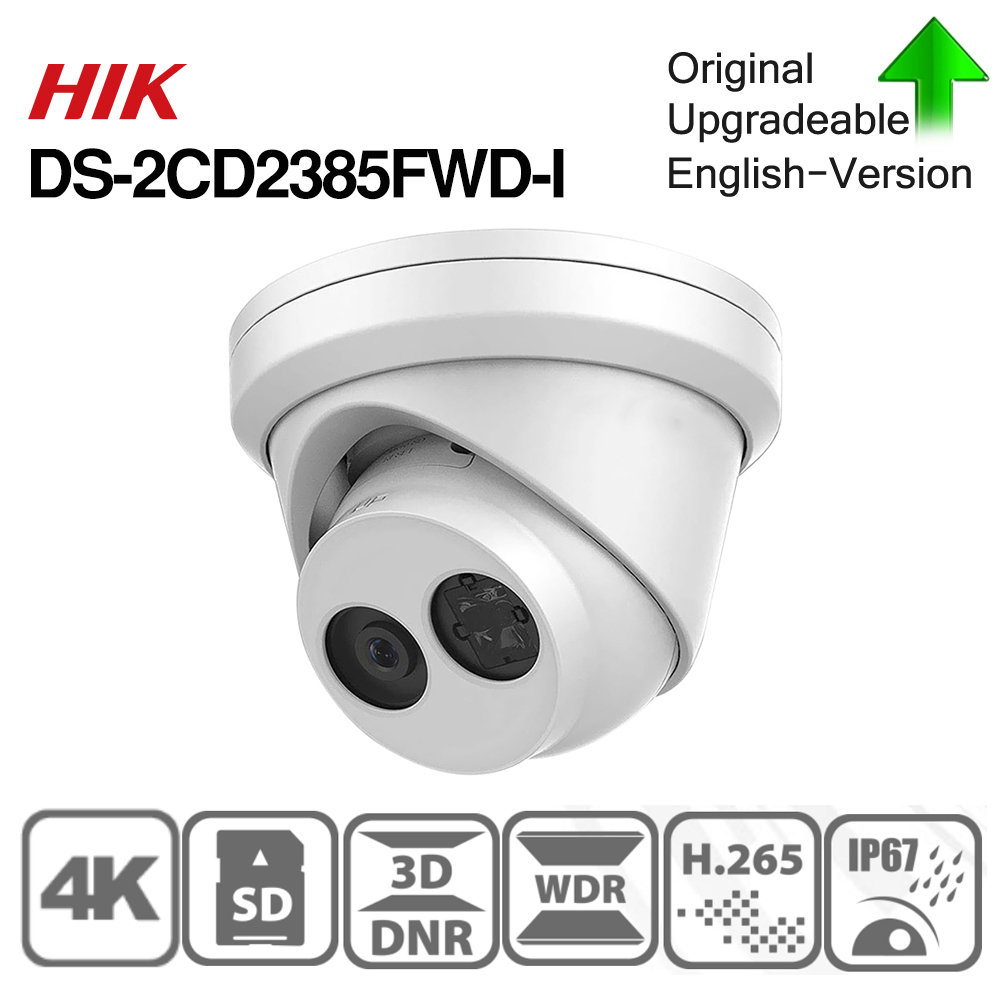 Image 3 - Hikvision original IP Camera DS 2CD2385FWD I 8MP Network CCTV Camera H.265 CCTV Security POE WDR SD Card Slot-in Surveillance Cameras from Security & Protection